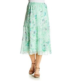 Alfred Dunner® High Tea Floral Tiered Skirt