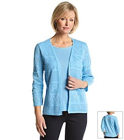 Alfred Dunner® Solid Layered Look Sweater