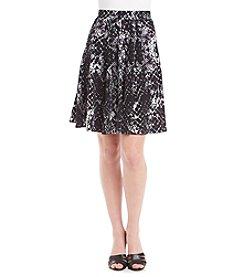 Chelsea & Theodore® Snake Print Skater Skirt