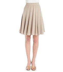 Chelsea & Theodore® Knit Panel Skater Skirt