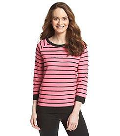 Jones New York Sport® Stripe Pullover