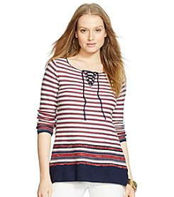 Lauren Jeans Co.® Striped Sweater Dress