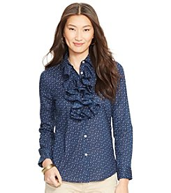 Lauren Jeans Co.® Ruffled Cotton Tunic