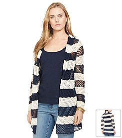 Lauren Jeans Co.® Striped Open Cardigan
