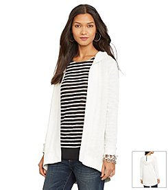 Lauren Jeans Co.® French-Terry Hooded Cardigan