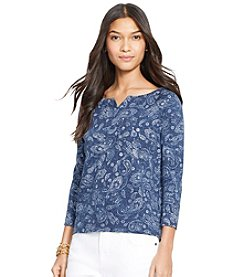 Lauren Jeans Co.® Paisley French Terry Pullover