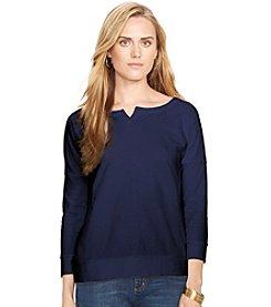 Lauren Jeans Co.® Split-Neck Pullover