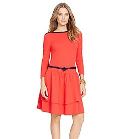 Lauren Jeans Co.® 3/4 Sleeve Boatneck Dress
