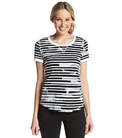 Jones New York Sport® Stripe Burnout Tee