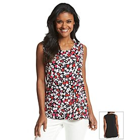 Jones New York Signature® High-Low Floral Tank