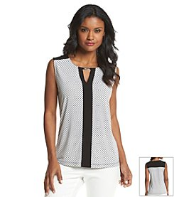 Jones New York Collection® Printed Sleeveless Blouse