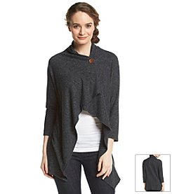 Bobeau Space Dye Single Button Cardigan