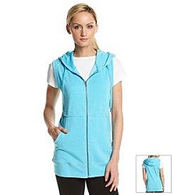 Calvin Klein Performance Zip Front Burnout Hoodie Vest
