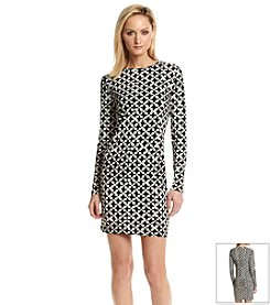 MICHAEL Michael Kors® Stylized Geometric Patterned Dress