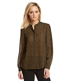 MICHAEL Michael Kors® Printed Collarband Blouse