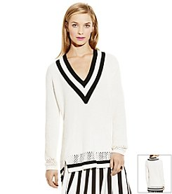 Vince Camuto® Deep V-Neck Sweater