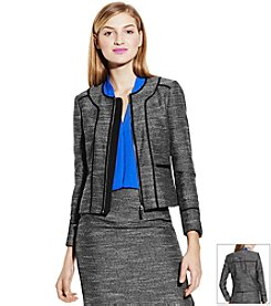 Vince Camuto® Collarless Front Zip Jacket