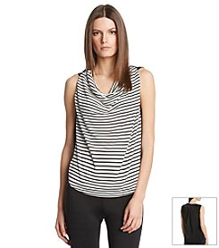 Robert Rodriguez® Striped Drapeneck Top