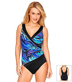 Longitude® Parakeet Splice One Piece Swimsuit