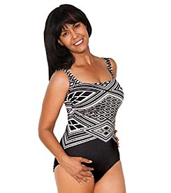 Longitude® Jet Set Scoopneck One Piece Swimsuit