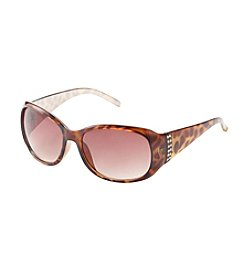 Relativity® Oval with Stones at Temple Sunglasses