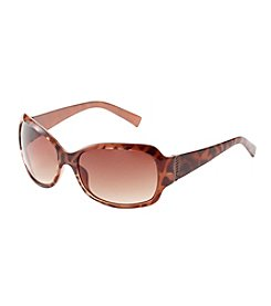 Relativity® Copper Large Anmial Rectangle Sunglasses