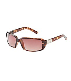 Relativity® Rectangle with Baguette Stones Sunglasses