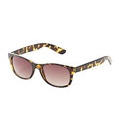Relativity® Wayfarer Tortoise Sunglasses