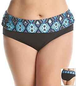 Kenneth Cole REACTION® Plus Size Coastal Escapade Sash Hipster Bottom