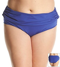 Kenneth Cole REACTION® Plus Size Solid Sash Hipster Bottom