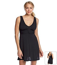 Jantzen® Solid V-Neck Knit Coverup Dress