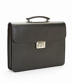 Royce® Leather RFID Blocking Anti-Theft Fingerprint Locking Briefcase