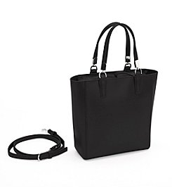 Royce® Leather RFID Blocking Saffiano Leather Mini Tote Cross Body Bag
