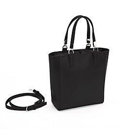 Royce® Leather RFID Blocking Saffiano Leather Mini Tote Cross Body Bag