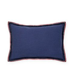 Tommy Hilfiger® Applique Flange Grosgrain Pillow