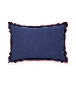 Tommy Hilfiger® Applique Flange Grosgrain Pillow