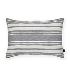 Tommy Hilfiger® Woven Grey Stripe Ivory Pillow