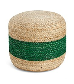 Tommy Hilfiger® Braided Jute Green Pouf