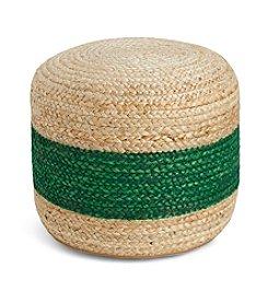 Tommy Hilfiger® Braided Jute Green Pouf