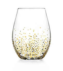 Fitz and Floyd® Gold Luster Set of 4 Stemless Wine Glasses