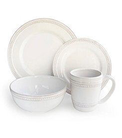 American Atelier Bianca Dots 16-pc. Dinnerware Set