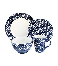 American Atelier Quatre Navy 16-pc. Dinnerware Set