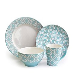 American Atelier Quatre Teal 16-pc. Dinnerware Set