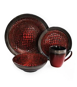 American Atelier Serrano Red 16-pc. Dinnerware Set