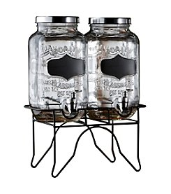 Style Setter Blackboard Beverage Dispenser with Metal Stand