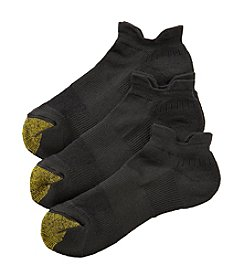 GOLD TOE® 3 Pack Velocity Double Tab Liner Socks