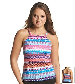 24th & Ocean® Savanna High Neck Tankini Top