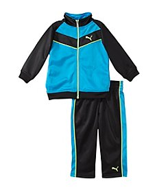 PUMA® Baby Boys' 2-Piece Chevron Tricot Outfit Set