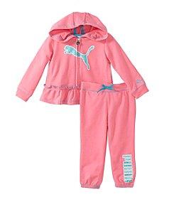 PUMA® Baby Girls' Sparkle Logo Outfit Set