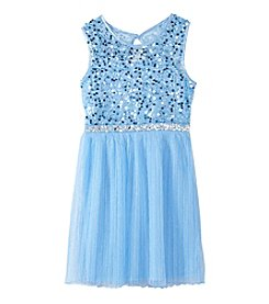 Sequin Hearts Girls' 7-16 Sleeveless Dress